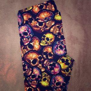 LulaRoe Skull Print Leggings